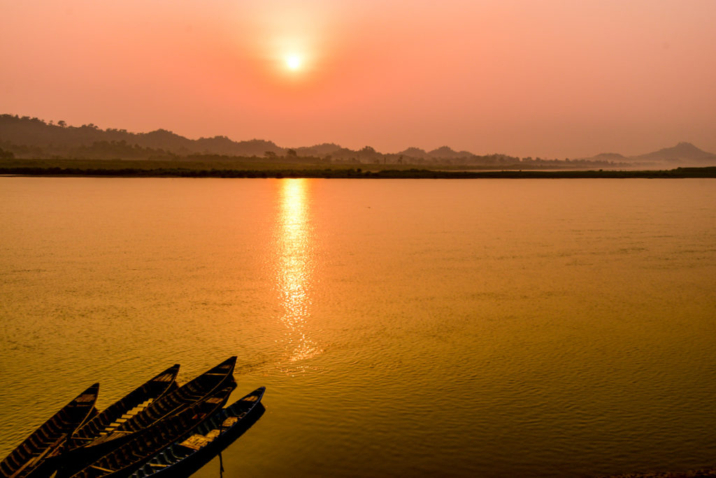 Kaladan river sunrise